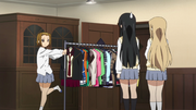 Ritsu with Sawako's costumes