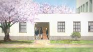 Sakura High auditorium hallway