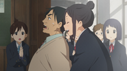 Nobuyo drags Horigome inside