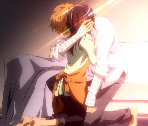 File:Takumi hugs Misaki.jpg
