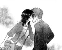 Tora and Misaki kiss