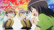 Misaki beating the boys