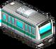 Dark Green Striped Train (Station Manager)