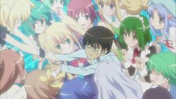 Keima and the conquered girls