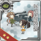 Type 94 Anti-Aircraft Fire Director 121 Card
