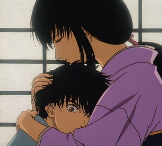 File:Tomoe and Enishi in Trust & Betrayal OVA.jpg