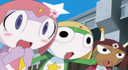 Chibi Pururu, Keroro and Giroro screaming