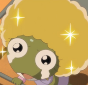 Keroro with a blonde afro