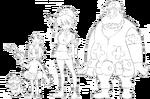 Mankanshoku family body (Nudist Beach sketch)