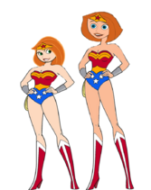 Kim possible and her mother as wonder woman by darthraner83-d8aek0r