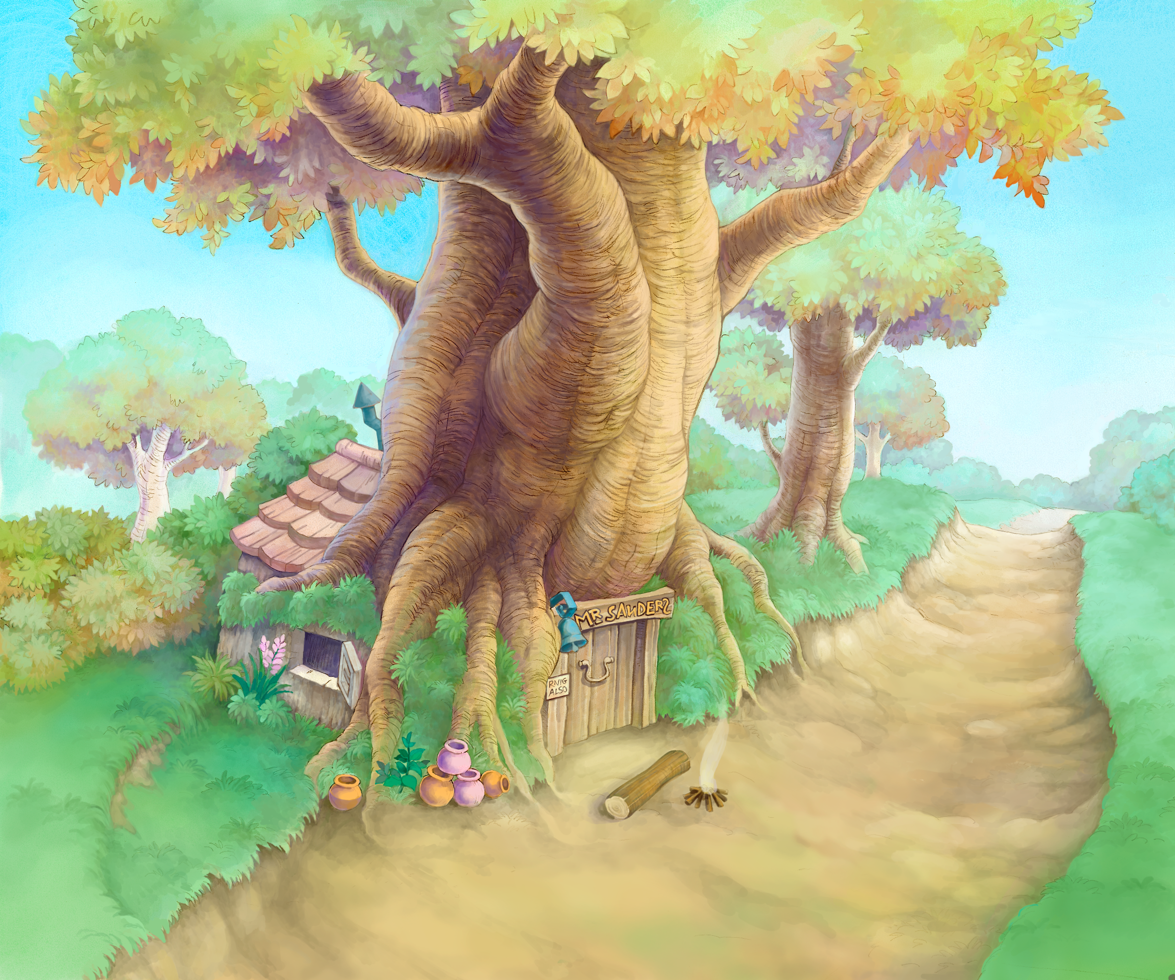 File:100 Acre Wood- Pooh's House (Art) KH.png