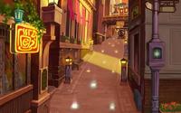 Twilight Town- Market Street (Art) KHII