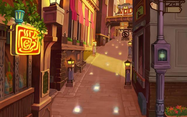 File:Twilight Town- Market Street (Art) KHII.png