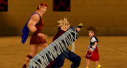 Cloud Defends Sora & Hercules (Screenshot) KHREC