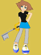Alli with keyblade