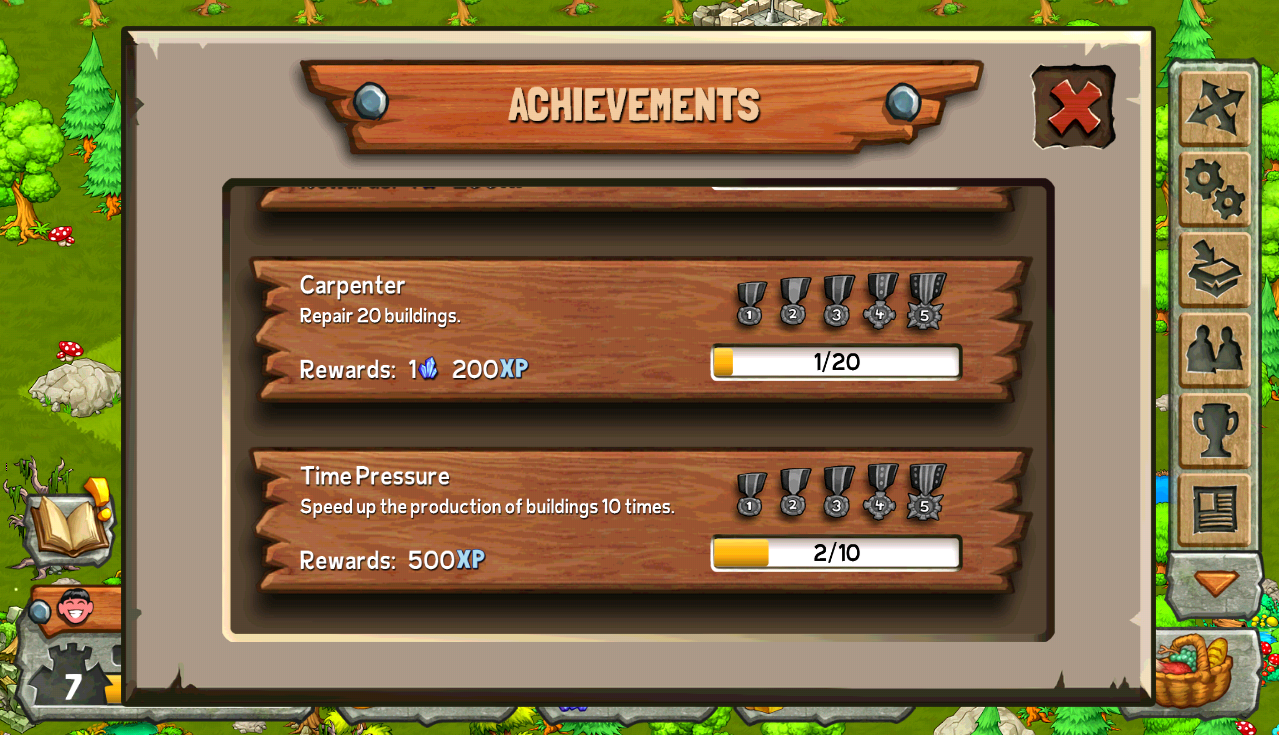 achievements kingdoms monsters wiki fandom powered by wikia this page is a list of all the in game achievements that can be completed as you progress each achievement has five badge levels a separate reward