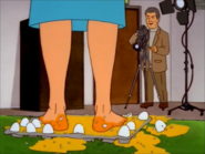 Peggy's Feet full of Eggs