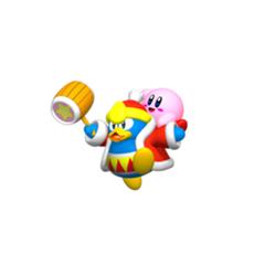 rey dedede y Kirby en <a href=