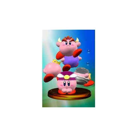 Trofeo de Melee donde se ve a Zelda Kirby
