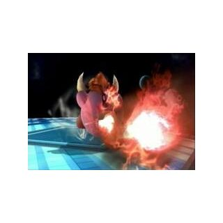 Bowser Kirby haciendo lanzallamas.