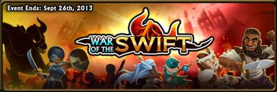 War of the Swift - Ends 26 Sep 2013