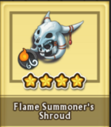 Flame summoner helmet