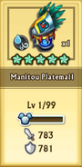 Manitou Platemail Level 1 Stats