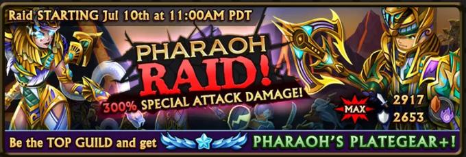 Pharaoh Raid Banner