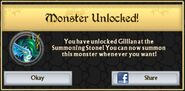 Gillian's Summoning Stone Unlock