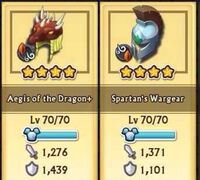Spartan's Wargear lv70