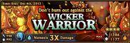 Wicker warrior banner