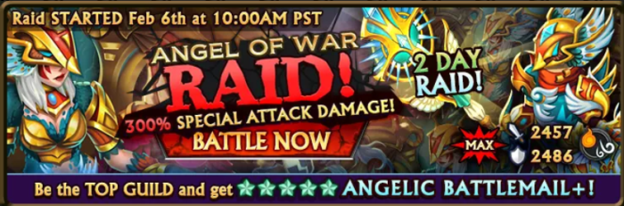 Angel of War Raid Banner