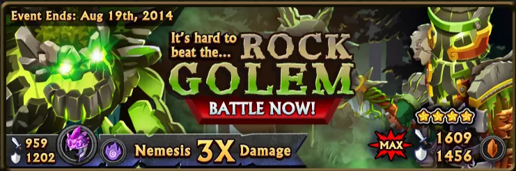 Rock Golem Banner