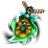 Leafsword Brambleplate-Amulet