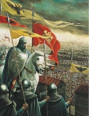 Knight Leading An Attack