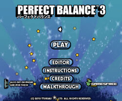 Perfect Balance 3 title screen