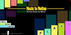 Music in Motion Main Menu