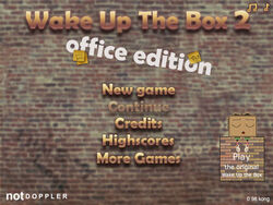 Wake Up the Box 2 title screen