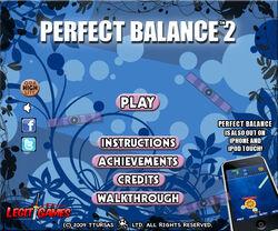 Perfect Balance 2 title screen