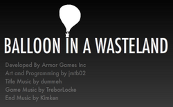 Balloon in a wasteland openingscreen