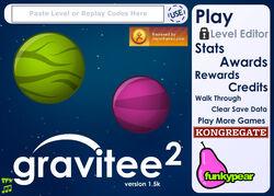 Gravitee 2 title screen