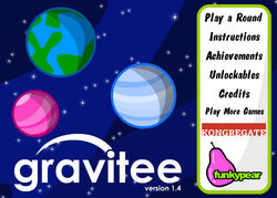 Gravitee title screen