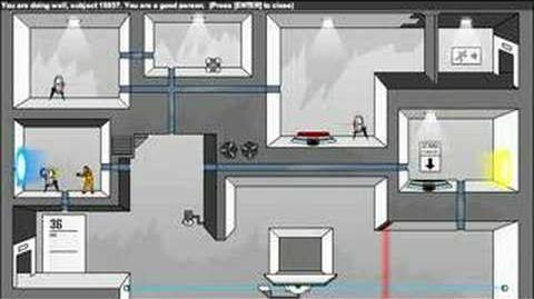 Portal- The Flash Version Walkthrough Levels 35-36