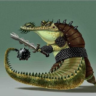 Concept artwork of Master Croc by Nico Marlet and Bill Kaufmann