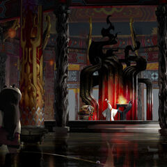Concept artwork of the tower's interior by Mike Yamada