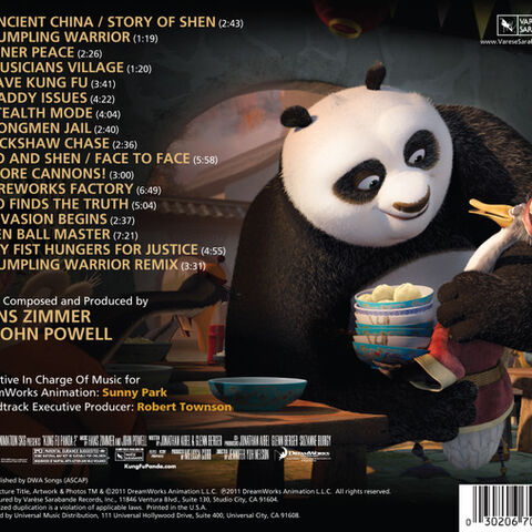 Back cover for the soundtrack