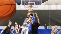 Kagami blocks Aomine again