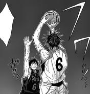 Koganei goes to block Mibuchi