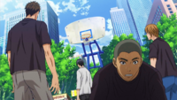 Seiho at the streetball tournament anime