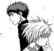 Kuroko and Kagami brief meeting